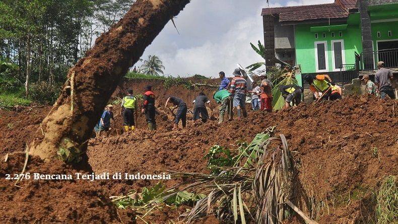 2.276 Bencana Terjadi di Indonesia