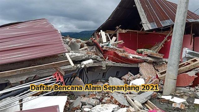 Daftar Bencana Alam Sepanjang 2021 Gempa, Banjir, Gunung Meletus
